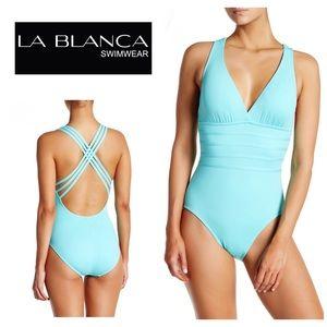 La Blanca cross back swimsuit. NWT